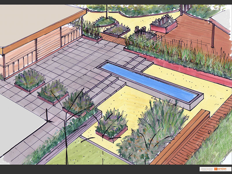 Drogteropslagen tuinontwerp en beplantingsplan korsian for Tuinontwerp en aanleg