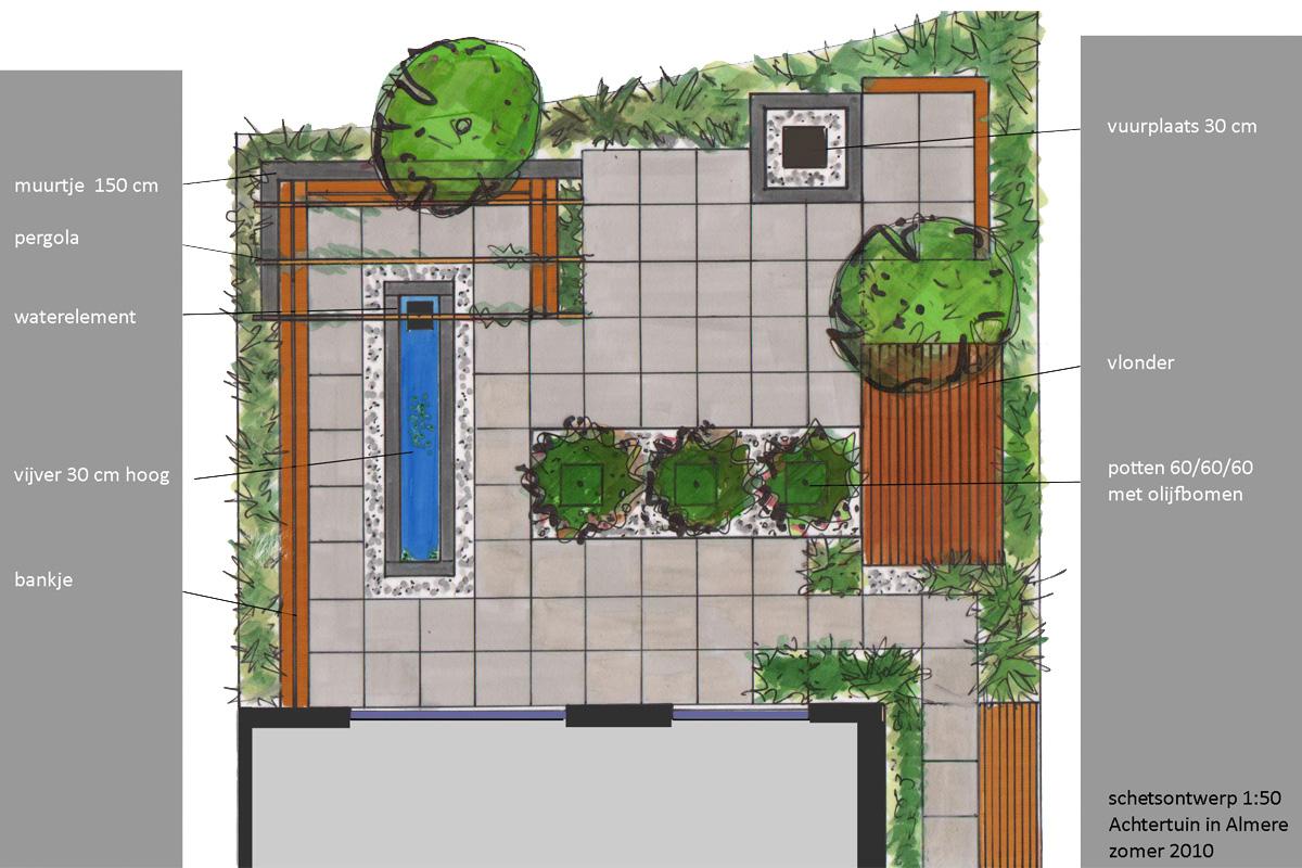Moderne tuin ontwerp en aanleg in almere korsian for Ontwerp tuin