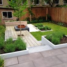 Moderne tuin met hoogteverschil zwolle